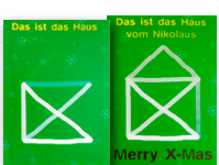 3D-Karten Weihnachten